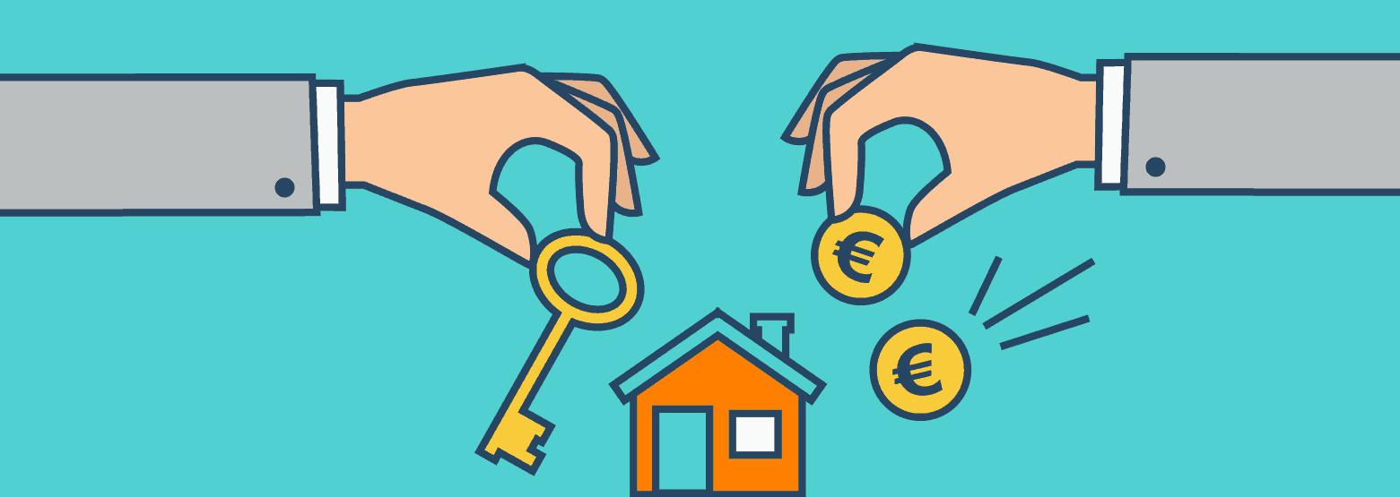 Haus mit Schlüssel und Geld