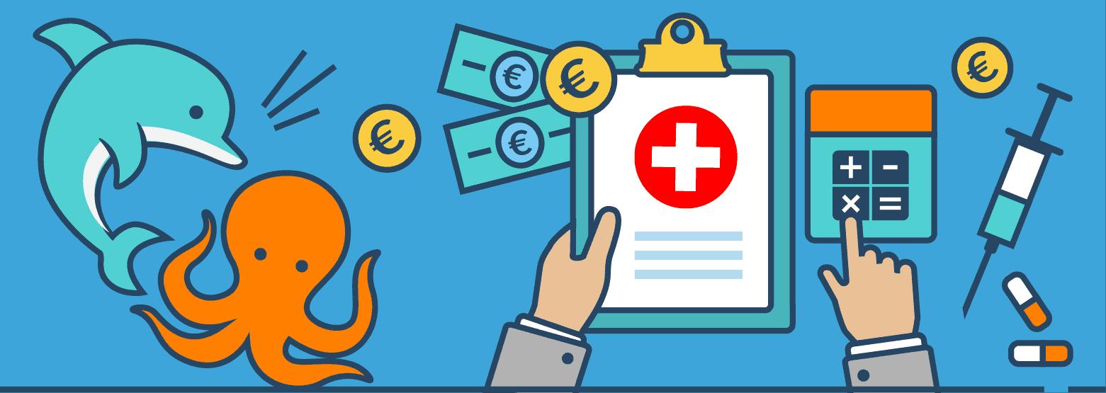 Krankenzusatzversicherung: Delphine & Oktopusse