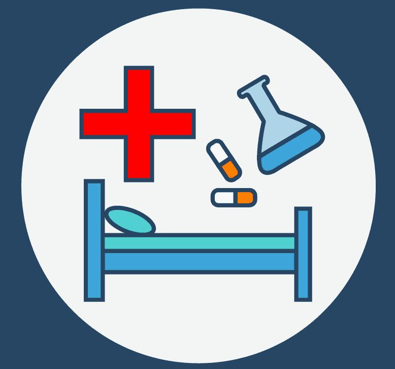 Krankenbett, Pillen