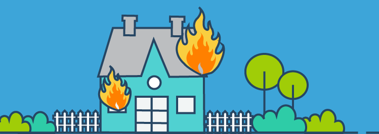 Wohnung brennt aus