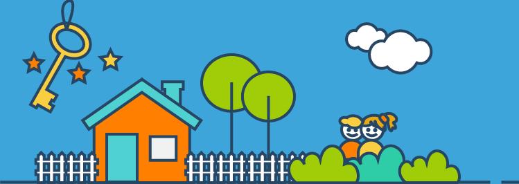Haus & Kinder