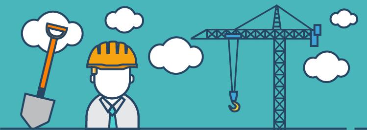 Baumeister und Kran: Antworten beim Vorstellungsgespraech aufbauen