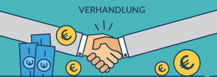 Gehalt Verhandlung - Handshake