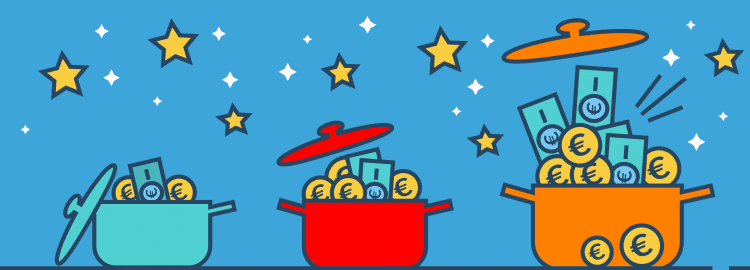 Drei Topf System Geldanlage