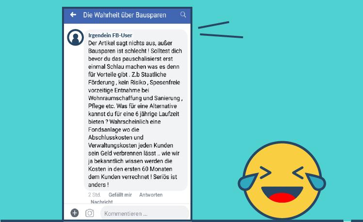 Facebook Kommentar Geldanlage 3 Topf System