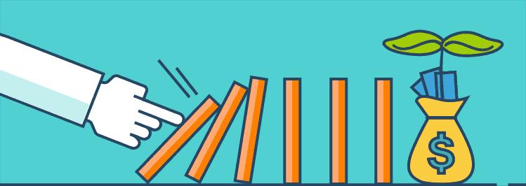 Domino kippt - Wenig Aufwand für viel Ergebnis