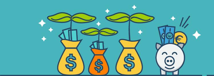 Geldpflanze: Sparen - Geld anlegen