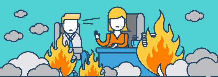 Fehler Job-Interview Feuer