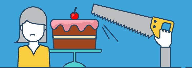 Säge mit Kuchen: Fehler