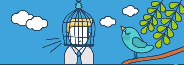 Kopf in Vogelkäfig - Der Bestätigungsfehler