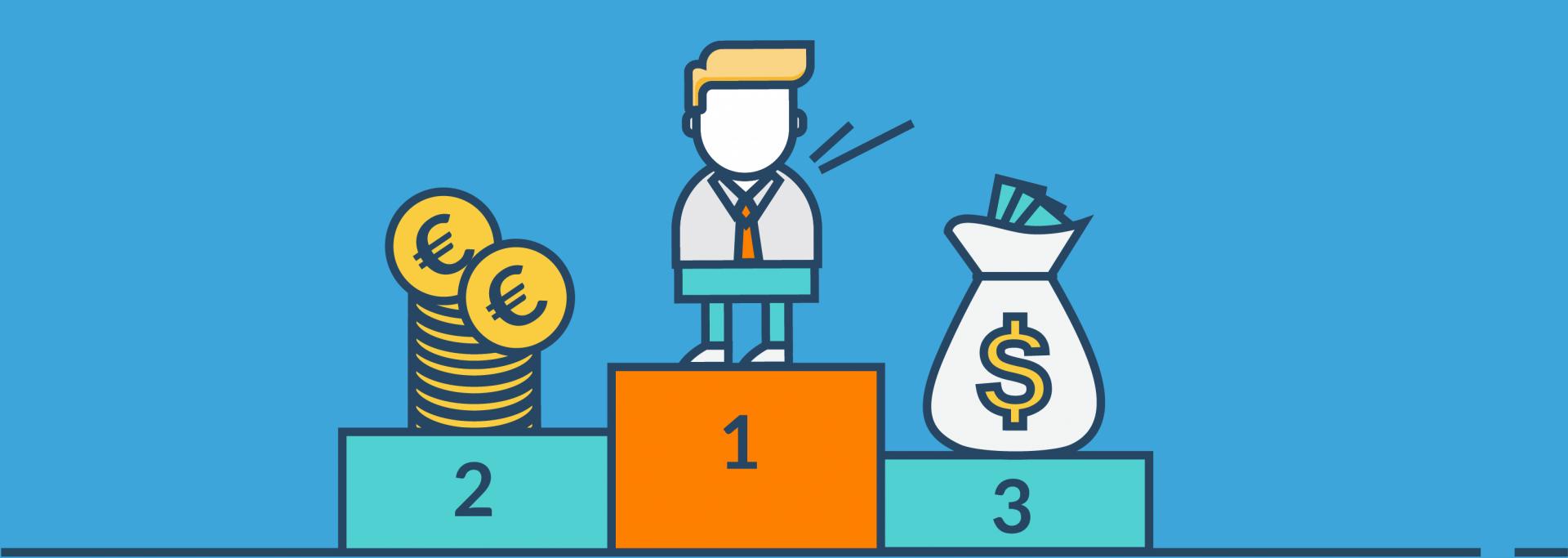 FiP.S Core Values Bilder Kunder Vor Profit: Siegerpodest