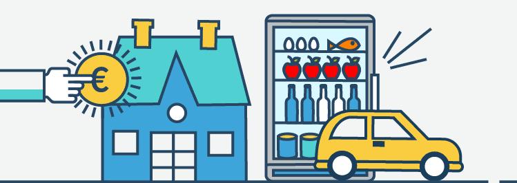 Fixkosten: Haus, Essen, Auto