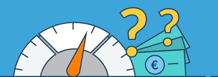 Tachometer - Höhe Altersvorsorge Anfangsbetrag