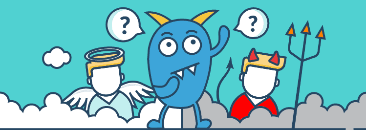 Mit was starten wir zuerst? Monster Engel und Teufel