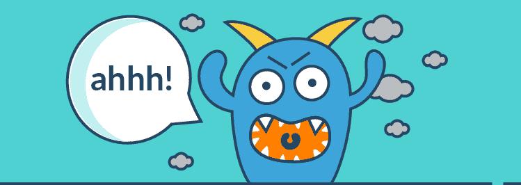 schreiendes Monster