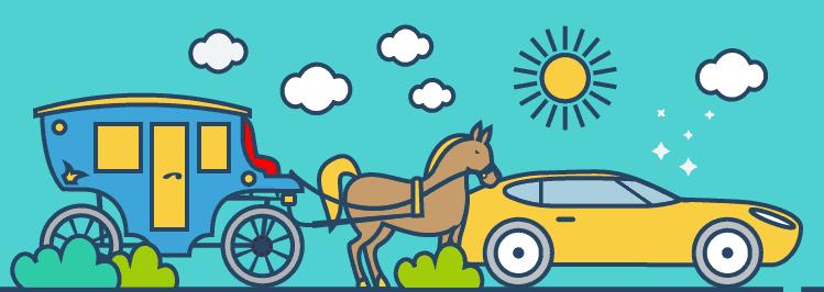 Kutsche vs. Sportwagen