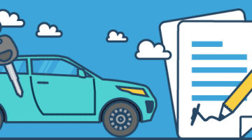Auto und Autoschlüssel mit Leasingvertrag