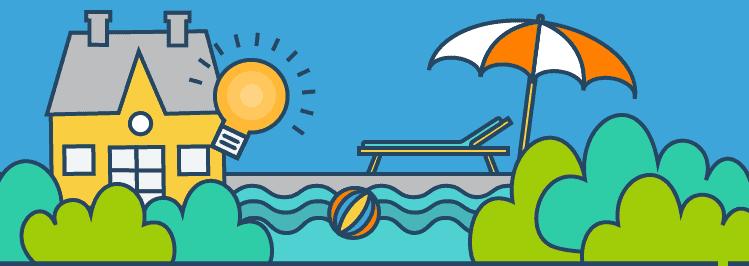 Smart Home mit Pool und Garten